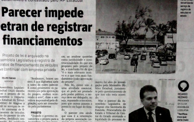 Parecer impede Detran de registrar financiamento