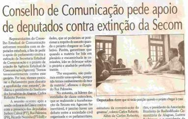 Conselho de Comunicação pede apoio de deputados contra extinção da Secom