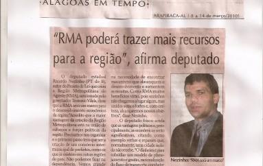 """""""RMA poderá trazer mais recursos para a região"""", afirma Deputado"""