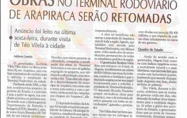 Obras no terminal rodovíario de arapiraca serão retomadas