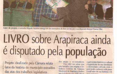 Livro sobre Arapiraca ainda é disputado pela população