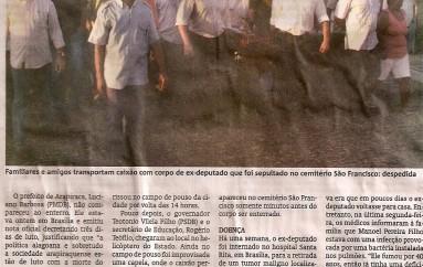 Arapiraca presta última homenagem a ex-deputado