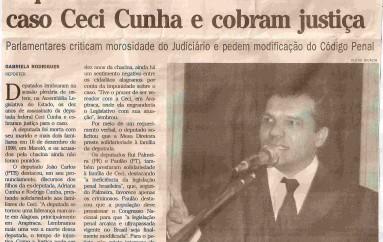Deputados lembram dez anos do caso Ceci Cunha e cobram justiça