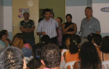 Reunião no povoado Canaã