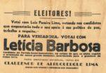 Propaganda da campanha de Letícia Barbosa