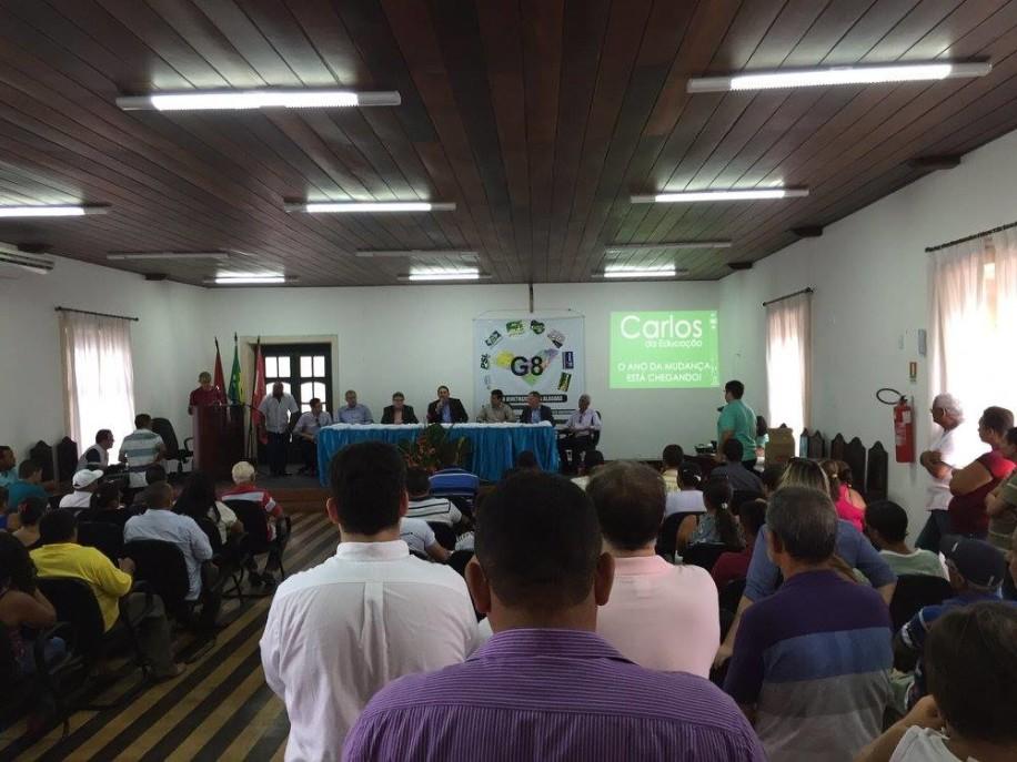 Apoio do G8 à Carlos da Educação na cidade Penedo (19-11-2015)