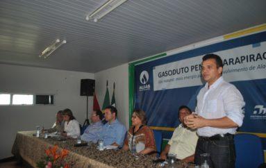Ricardo participa de solenidade de assinatura da ordem de serviço de gasoduto Penedo Arapiraca. 11 de janeiro de 2016