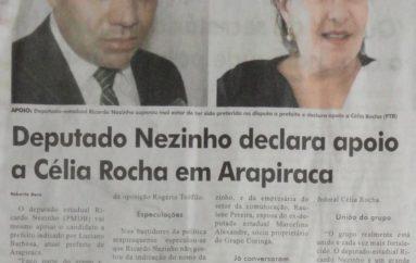 Deputado Nezinho declara apoio a Célia Rocha em Arapiraca