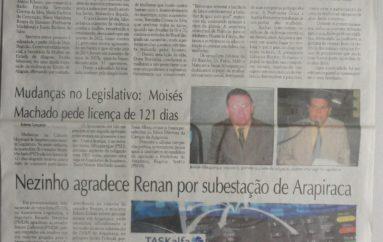 Nezinho agradece Renan por subestação de Arapiraca