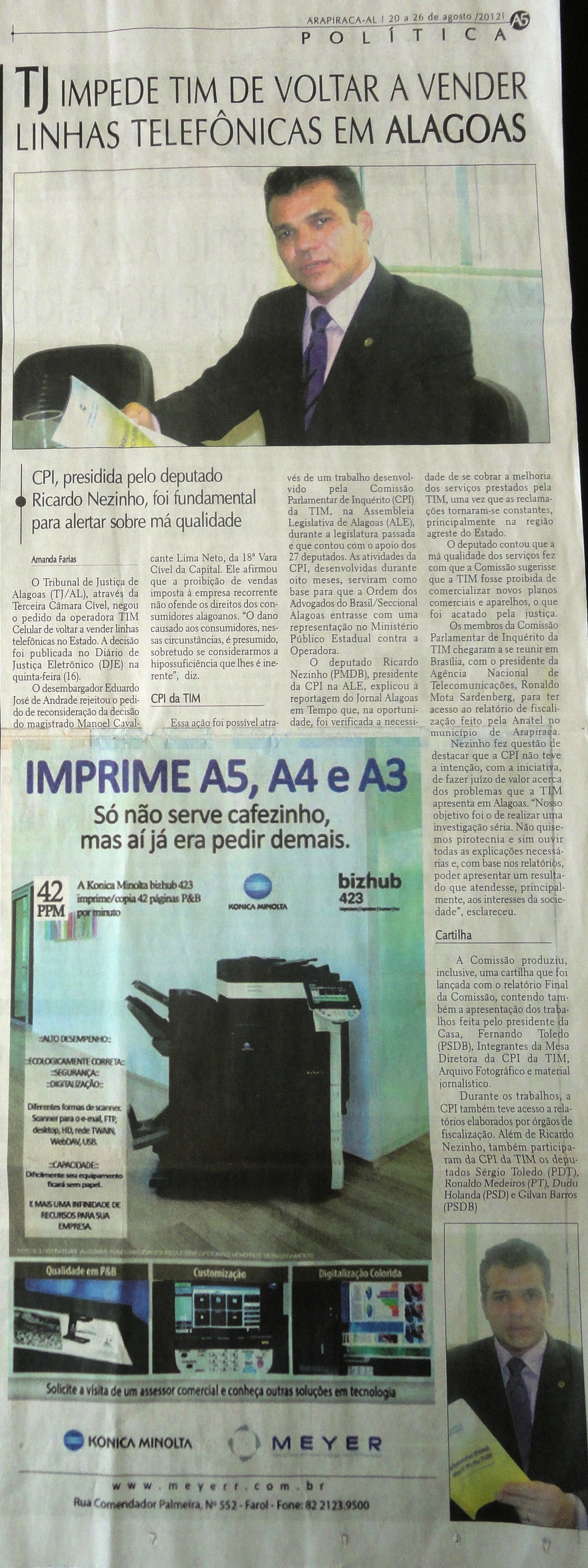 Alagoas em tempo -20 a 26-08-2012