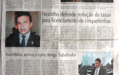 Nezinho defende redução de taxas para licenciamento de cinquentinhas