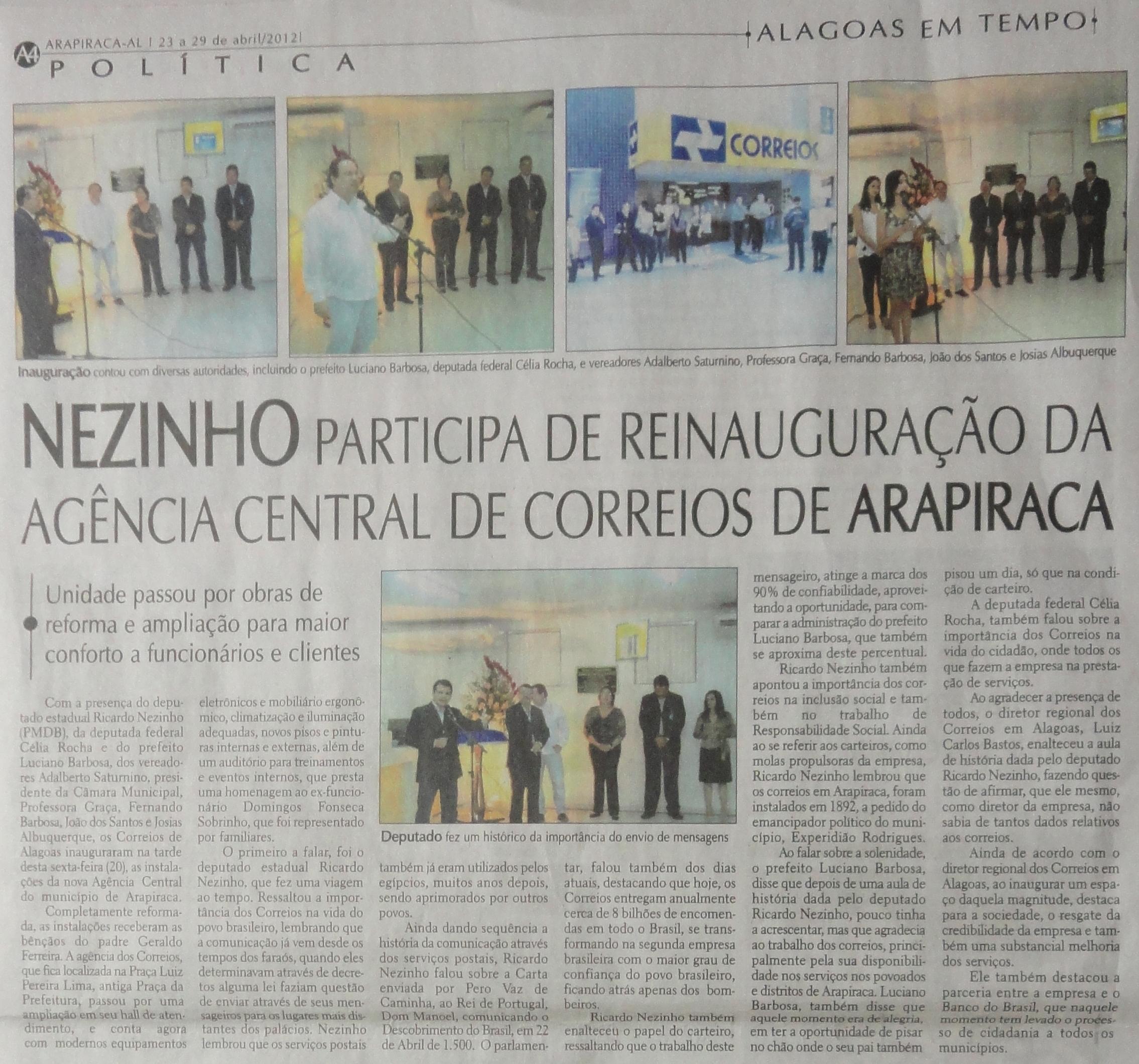 Alagoas em tempo 23-04-12