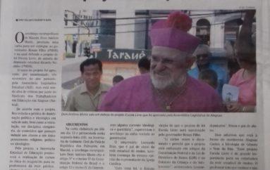 Arcebispo envia carta ao Governador e defende projeto de Deputado