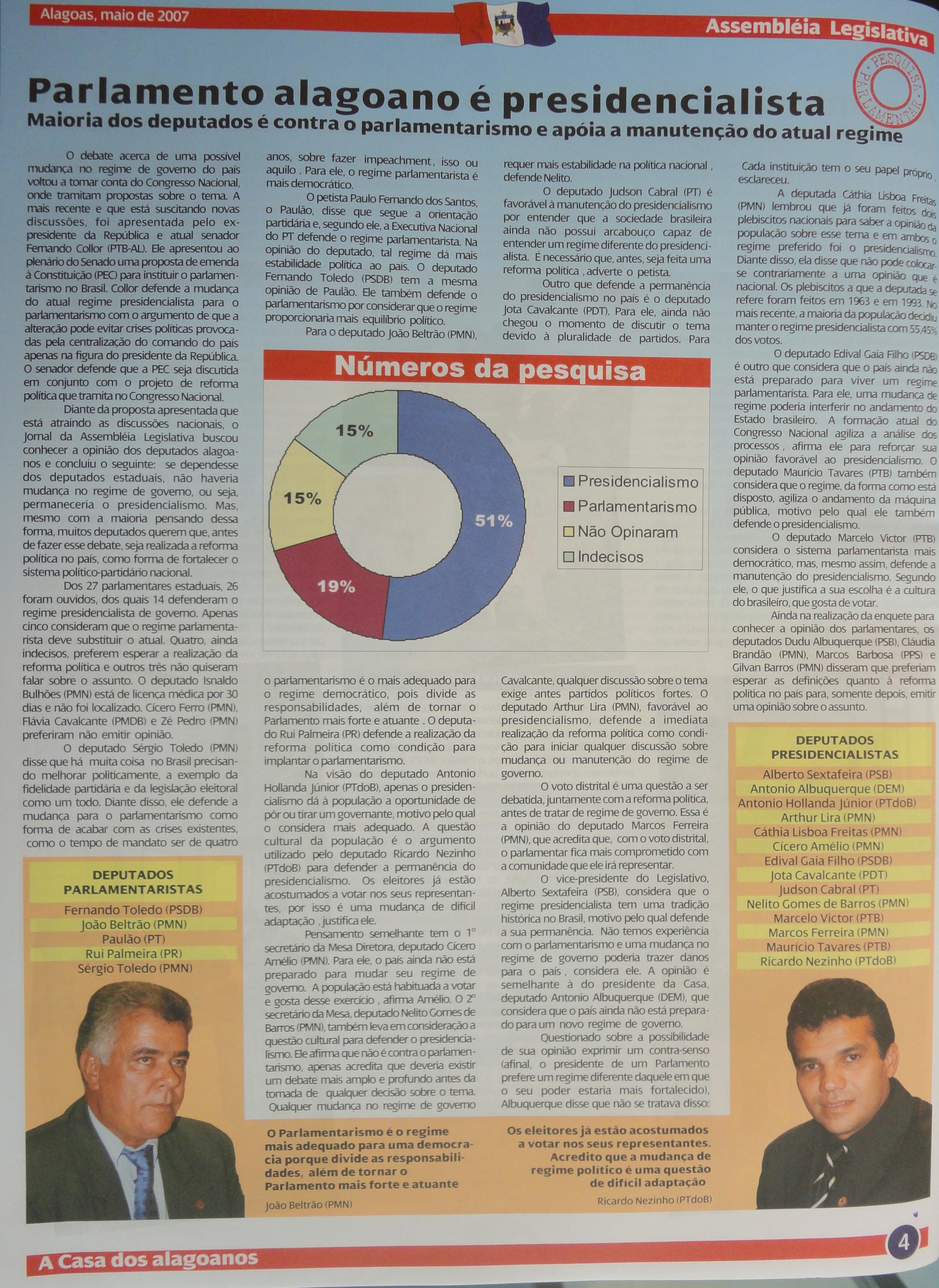Coleção do Jornal da Assembleia 05-2007