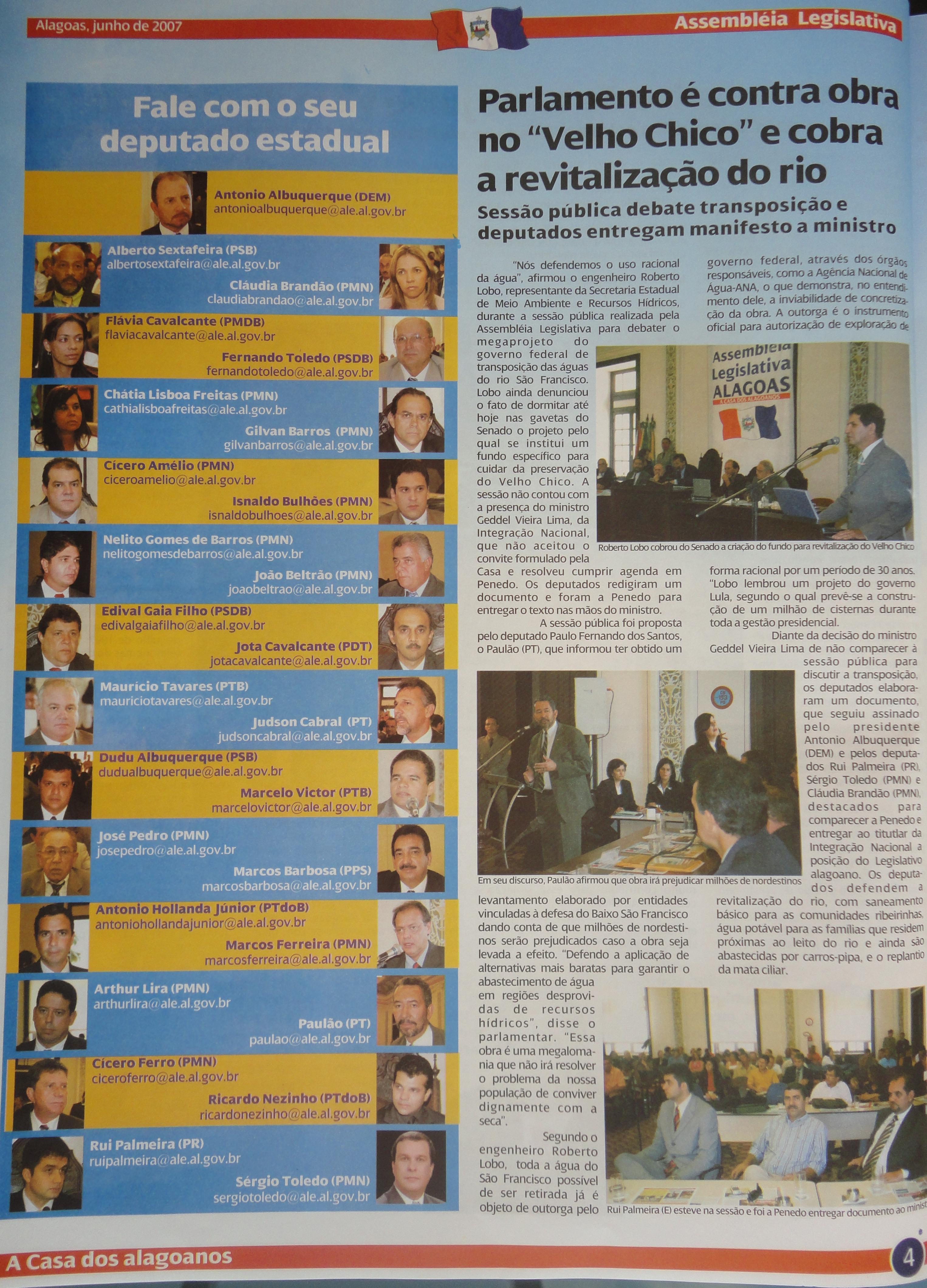 Coleção do Jornal da Assembleia 06-2007