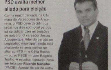 Em Arapiraca PSD avalia melhor aliado para eleição