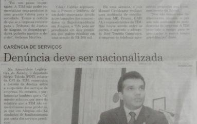 TIM é impedida de habilitar novas linhas em Alagoas