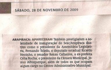 Inauguração do SESC/Arapiraca
