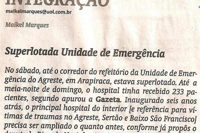 Superlotada Unidade de Emergência