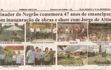 Minador do Negrão comemora 47 anos de Emancipação