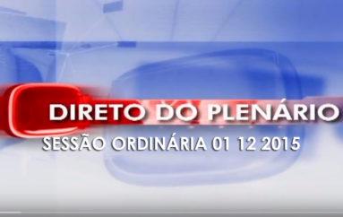SESSÃO ORDINÁRIA DEP. RICARDO NEZINHO HD 01 12 2015