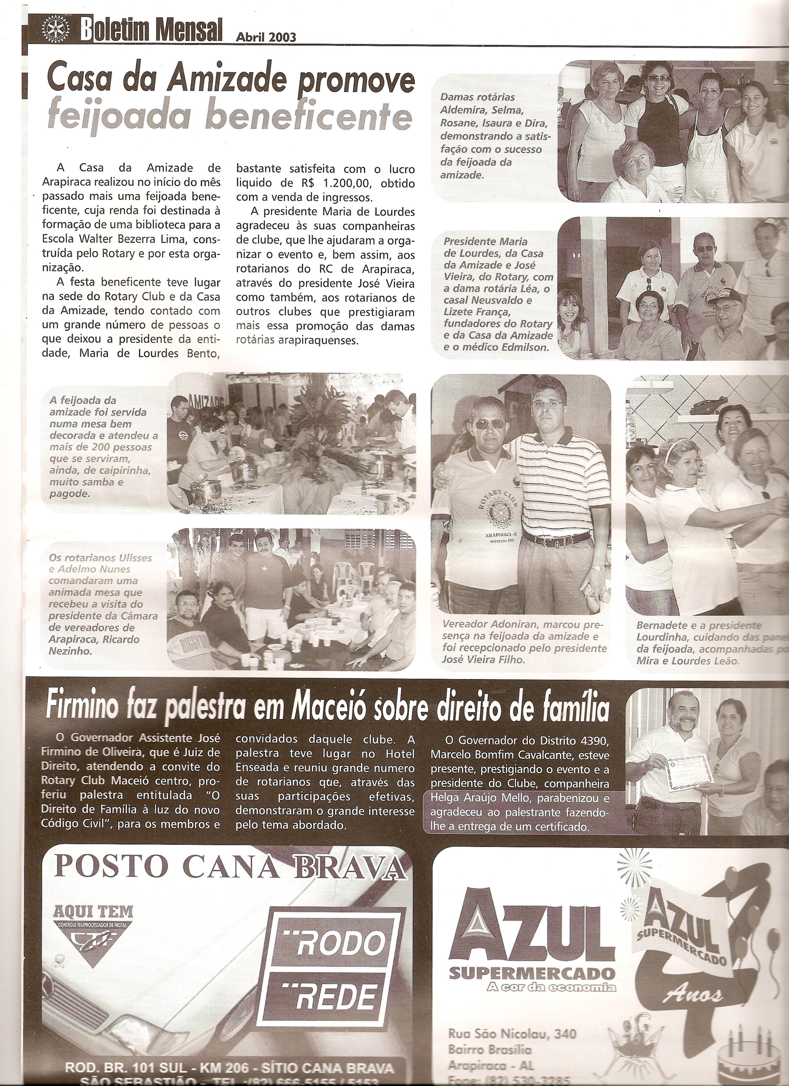 Boletim Mensal 04-2003