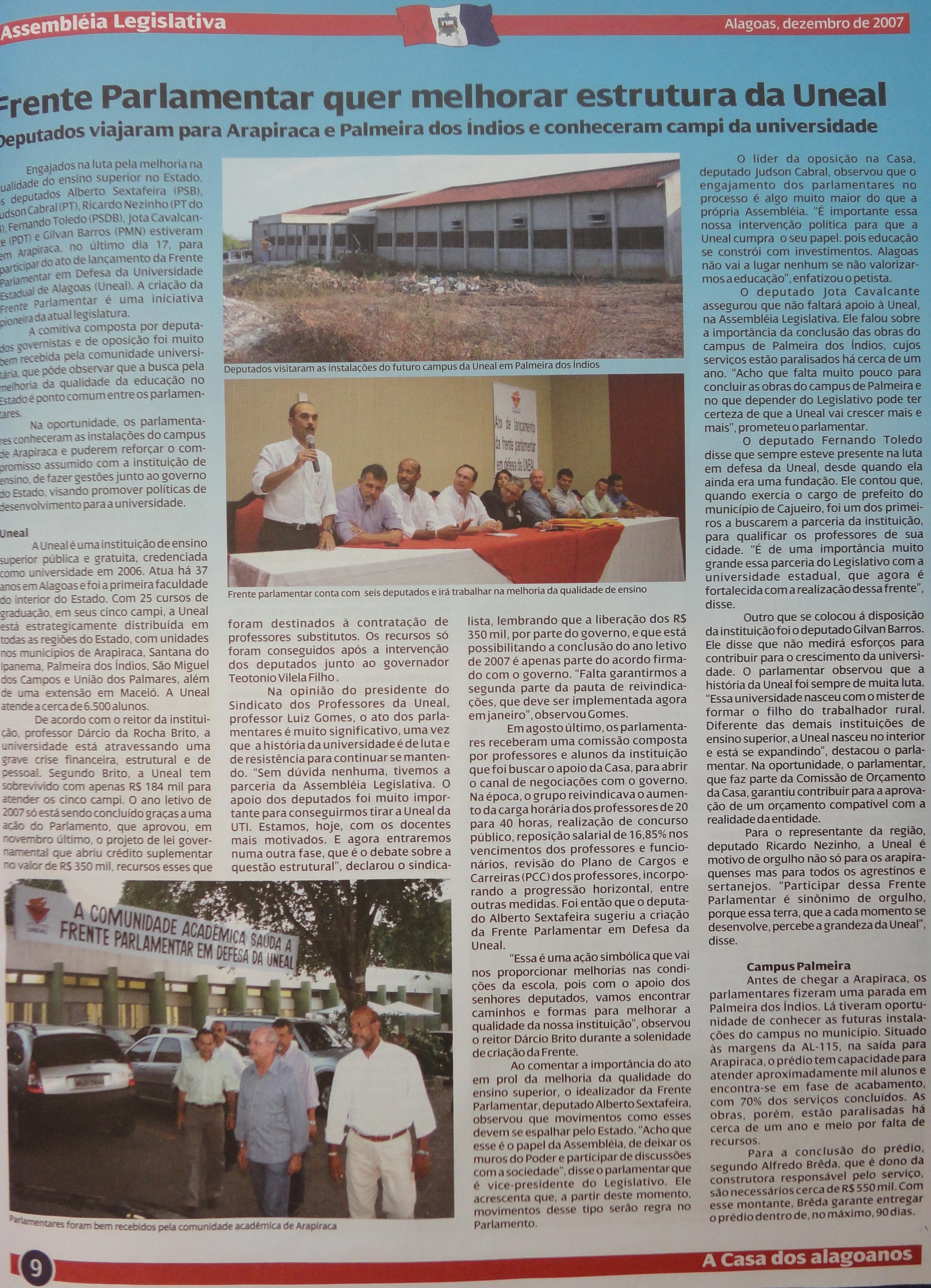 Coleção do Jornal da Assembleia 12-2007