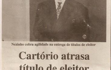 Cartório atrasa título de eleitor