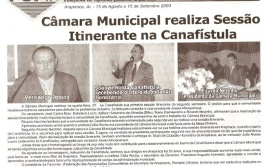 Câmara Municipal realiza Sessão itinerante na Canafístula