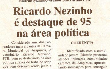 Ricardo Nezinho é destaque de 95 na área política