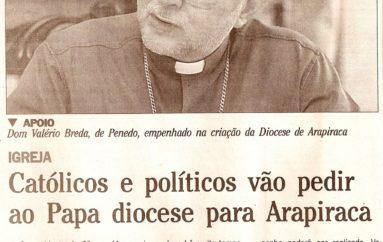 Católicos e políticos vão pedir ao Papa diocese para Arapiraca