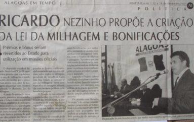 Ricardo Nezinho propõe a criação da Lai da Milhagem e Bonificações