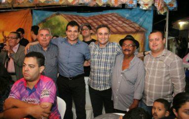 Nezinho e Yale Fernandes continuam prestigiando os festejos juninos em Arapiraca