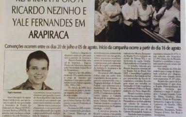 Luciano Barbosa reafirma apoio à Ricardo Nezinho e Yale Fernandes em Arapiraca