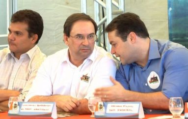 Em Arapiraca, Renan Filho e Luciano Barbosa reafirmam apoio a Ricardo Nezinho