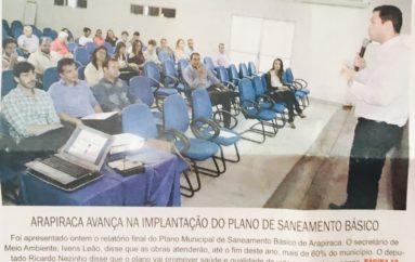 Arapiraca avança na implantação do plano de saneamento básico