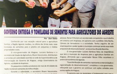 Governo entrega 9 toneladas de sementes para agricultores do Agreste