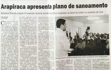 Arapiraca apresenta plano de saneamento