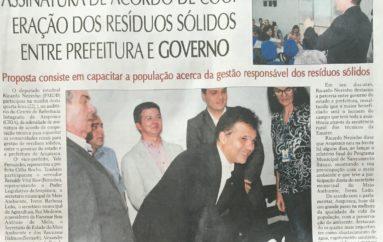 Ricardo Nezinho prestigia assinatura de acordo de cooperação dos resíduos sólidos entre Prefeitura e Governo
