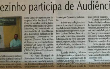 Ricardo Nezinho participa de Audiência Pública