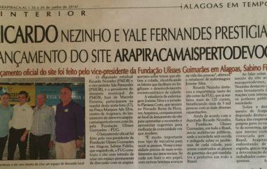 Ricardo Nezinho e Yale Fernandes prestigiam lançamento do site ARAPIRACAMAISPERTODEVOCE