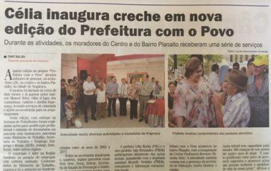 Célia inaugura creche em nova edição do prefeitura com o povo