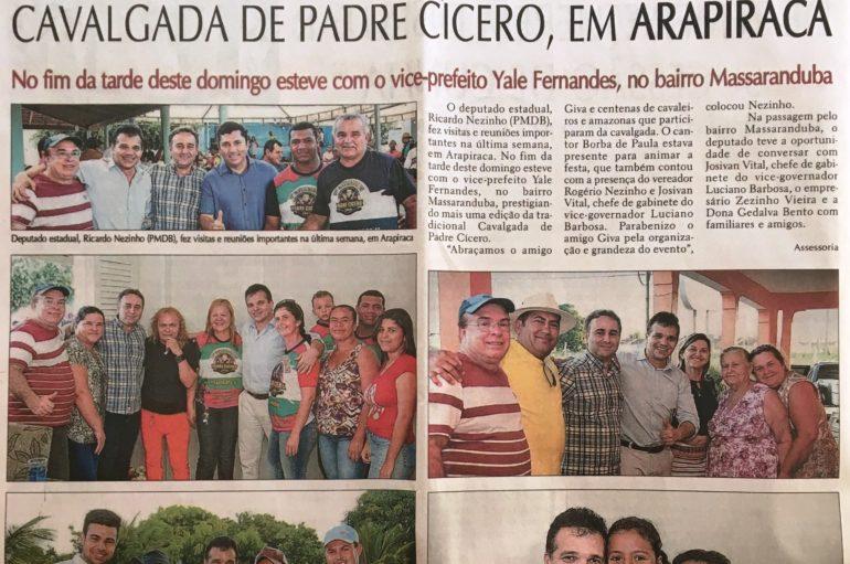Deputado Ricardo Nezinho prestigia cavalgada de Padre Cícero em Arapiraca
