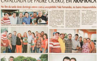 Deputado Ricardo Nezinho prestigia a cavalgada de Padre Cícero, em Arapiraca