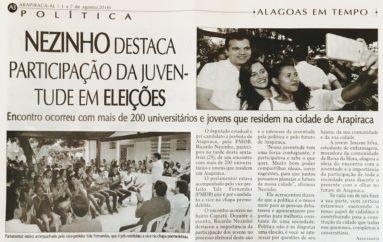 Nezinho destaca participação da juventude em Eleições