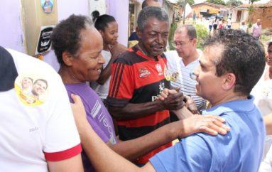 Ricardo Nezinho recebe o apoio dos moradores do Pau d'Arco