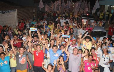 Ricardo Nezinho é recebido com festa na Vila São José e Guaribas