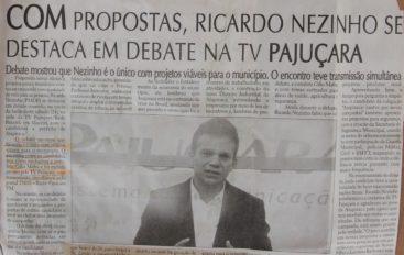 Com propostas, Ricardo Nezinho se destaca em debate na TV Pajuçara