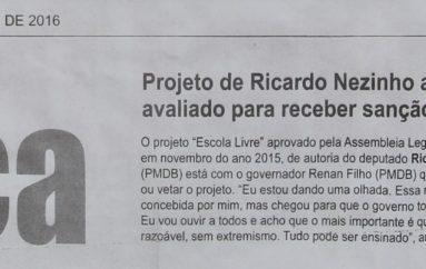 Projeto de Ricardo Nezinho ainda será avaliado para receber sanção ou veto