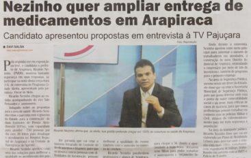 Nezinho quer ampliar entrega de medicamentos em Arapiraca